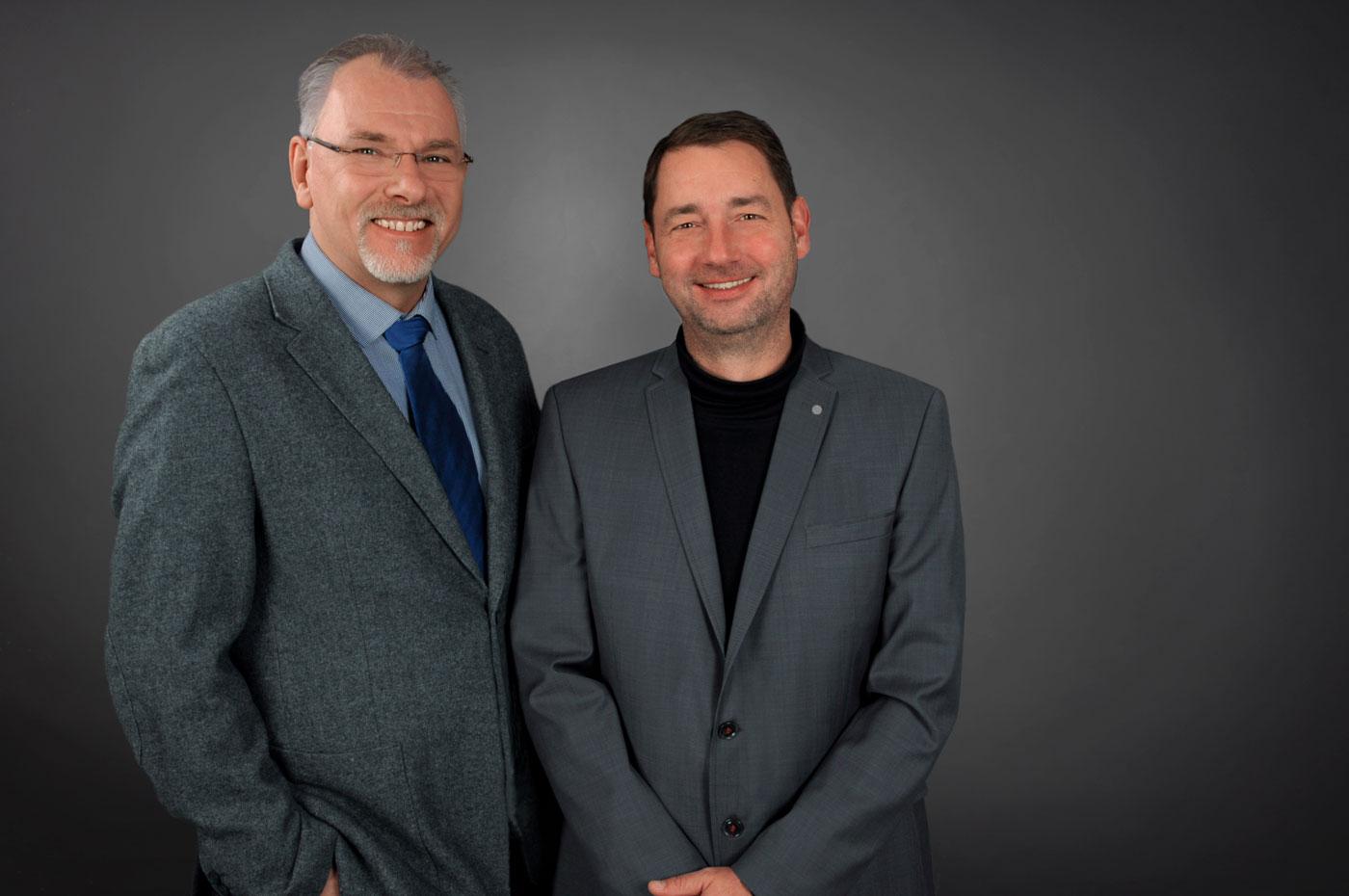 Die Geschäftsführer der BSMV-GmbH Petermann und Wiedmann